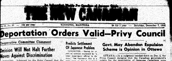 New Canadian (7 December 1946) 1